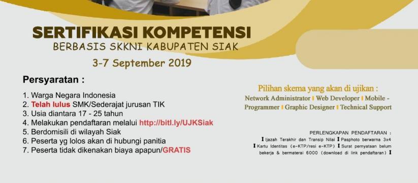 KOMINFO Medan, LSP Komputer: Sertifikasi Kompetensi (Berbasis SKKNI Kab. Siak)