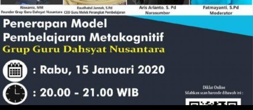 Seminar Gratis: Penerapan Model Pembelajaran Metakognititf