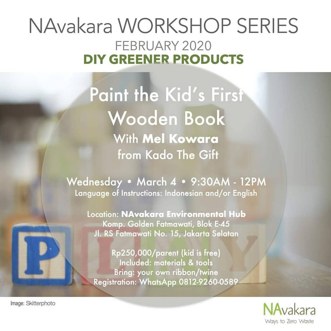 DIY Greener Product: Paint the Kid's First Wooden Book
