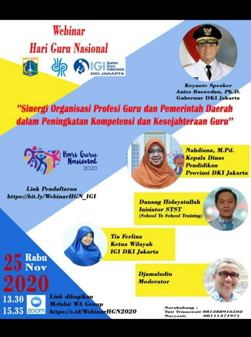 Webinar Hari Guru Nasional